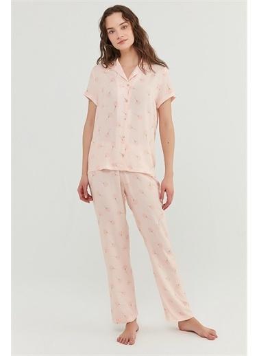 Penti Kadın Açık Pembe İxia Flower Pijama Takım PN5O5V3S21IY Pembe